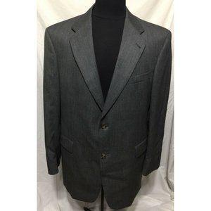 Tommy Hilfiger 42R Mens Gray 100% Wool Blazer Spor